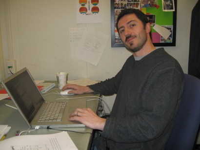 MITgcm user since 2002, David Ferreira seen here in his office at MIT. David loves to watch rugby.