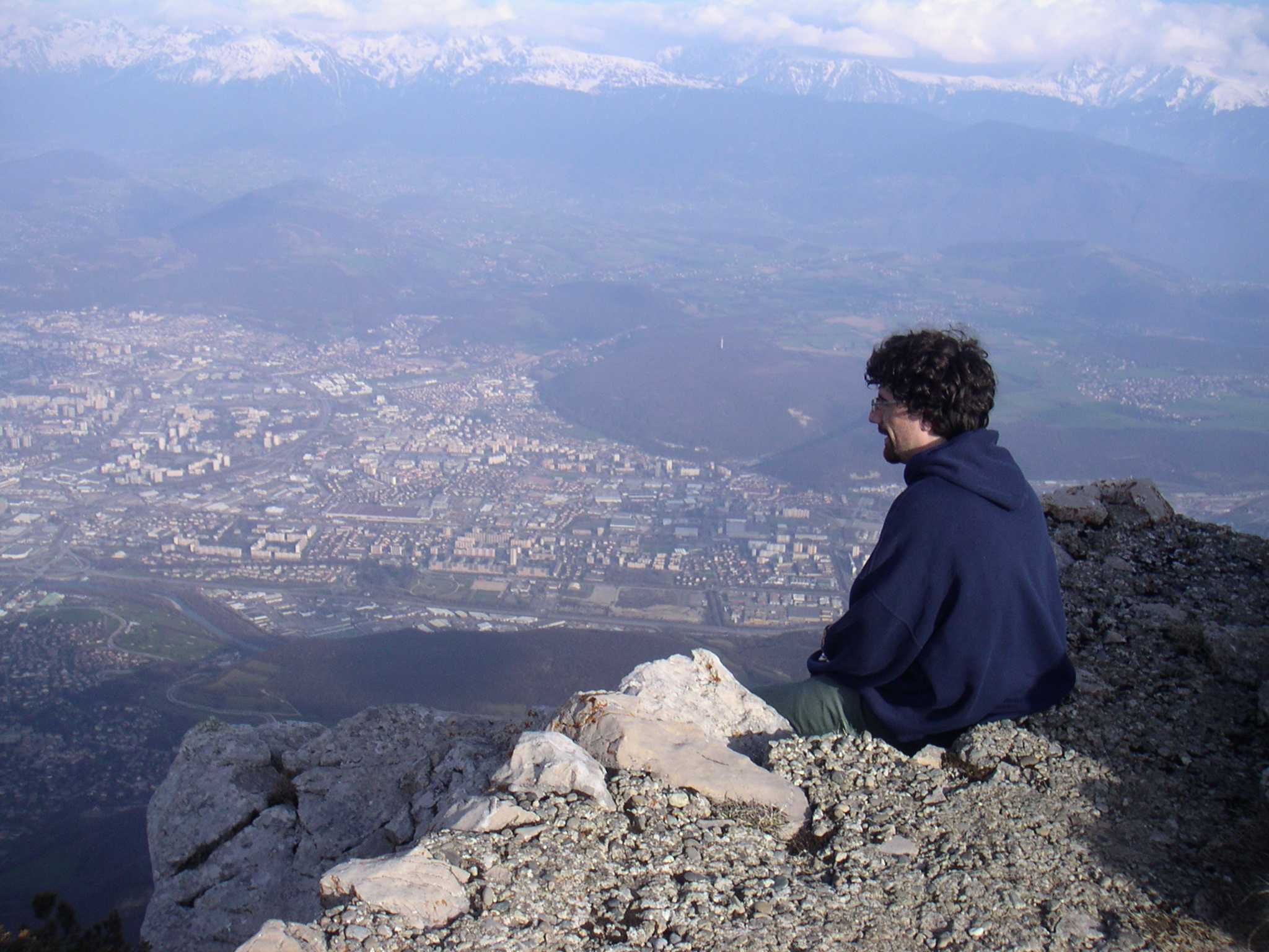 Nicolas has been using MITgcm since 2007. When he isn't modeling ISWs he enjoys hiking (which he says is quite easy around Grenoble, as you can see in this picture of him high above the city). Having just defended his thesis he is very much looking forward to taking up a postdoc position in NYC beginning inJanuary.