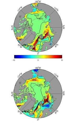 Figure 4c: Delta CO2 flux 2005 (top), 2007 (bottom)