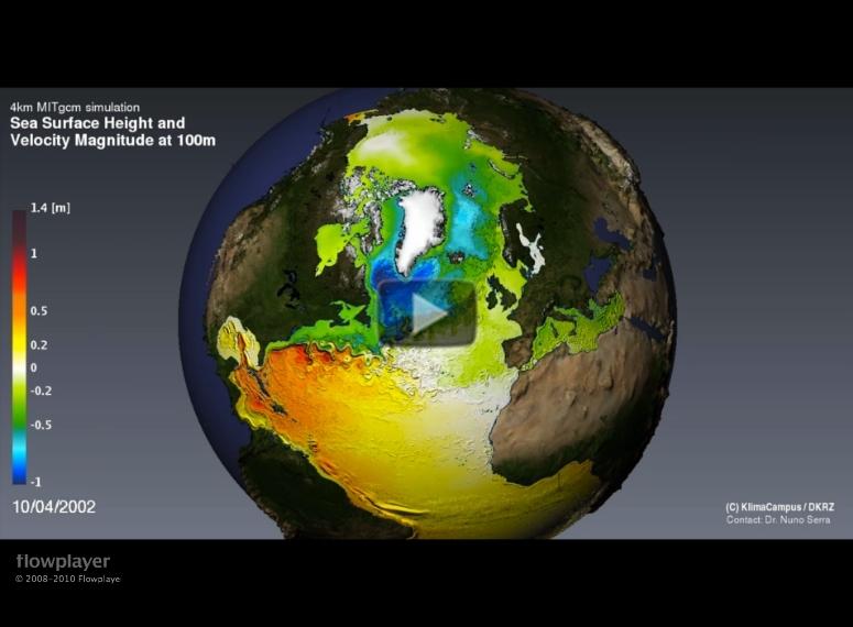 Sea Level Height Evolution Video