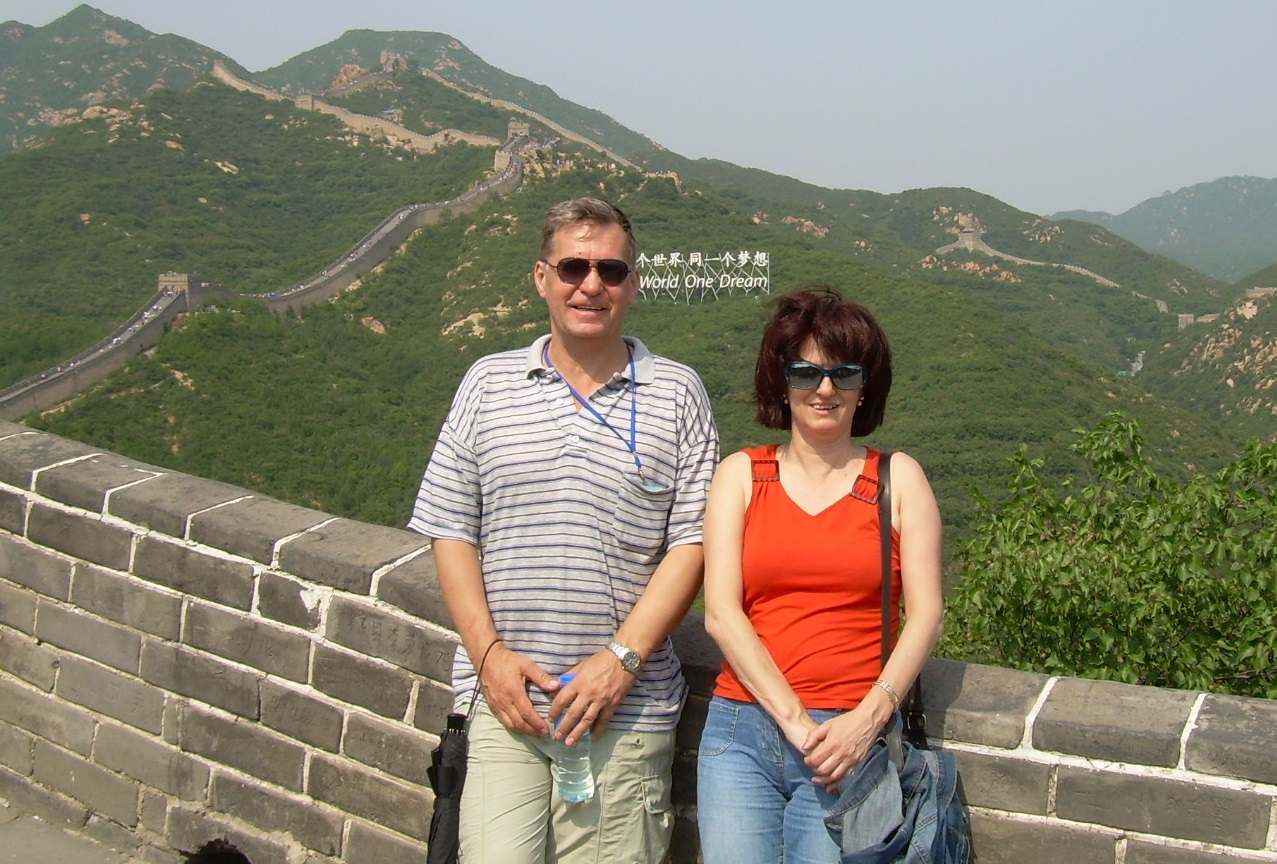 Nataliya Stashchuk (right) (here pictured on the Great Wall in China with long time collaborator Vasily Vlasenko (left) started working with the MITgcm in 2006 and since then the pair have already published 15 papers on oceanic internal waves, baroclinic tides, strait and plume dynamics, deep-water circulation. When not at work Stashchuk likes to travel a lot, play tennis, or draw pictures